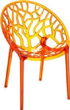 Thermo Plastic Crystal Chair - Orange